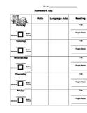 2014-2015 Homework and Behavior Log