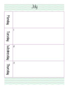 2014-2015 Large Planner - Purple and Mint Chevron