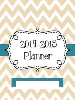 2014-2015 Caramel Chevron Planner (Monthly-Weekly-Daily Le