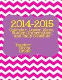 2014-2015 Planner Chevron/Glitter