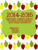 2014-2015 Planning Calendar Apple Theme