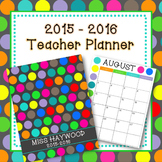 2015-2016 Polka Dot Teacher Planner (Teacher Binder)