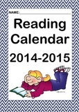 2014-2015 Reading Calendar