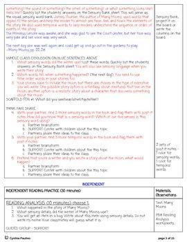 2014-2015 ReadyGen Unit 5 Module A PBA Lesson Plan & Activity Sheets