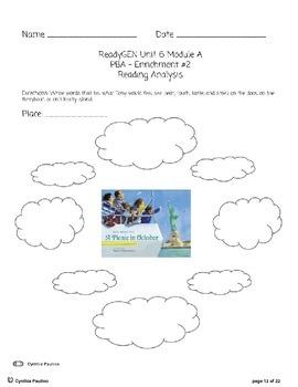 2014-2015 ReadyGen Unit 6 Module A PBA Lesson Plan & Activity Sheets