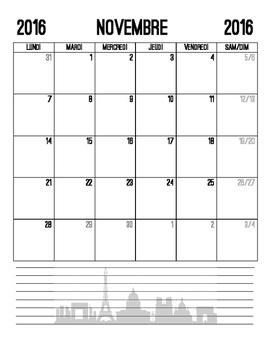 2016-2017 School Year Calendar - French