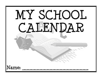 2014-2015 School Year Calendar with Numbers