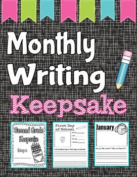 Monthly Writing Keepsake