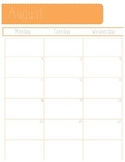 2014-2015 School Year Monthly Planner- PDF