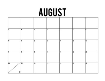 2014-2015 Simple Calendar for Planning