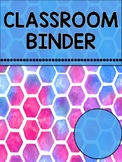 Classroom and Special Ed. Binder