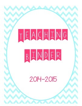 2014-2015 Teacher Binder Cover