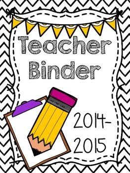 2014-2015 Teacher Binder Cover