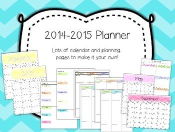 UPDATE!!! 2015-2016 Teacher Planner