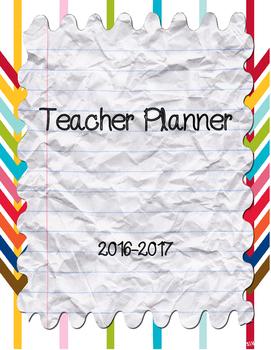 2016-2017 Teacher Planner (4 teaching blocs)
