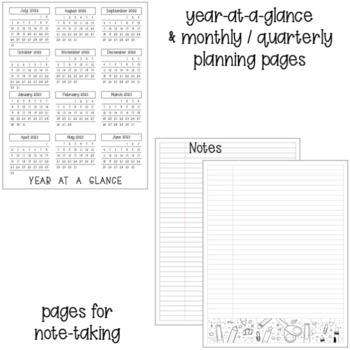 2017-2018 Teacher Planner Calendar {Editable}