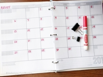 Awesome Teacher Planning Calendar Blank Template
