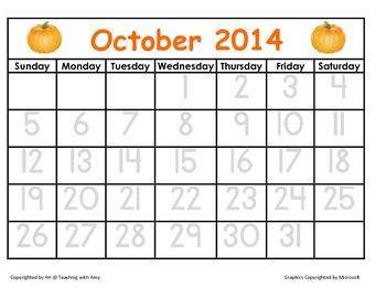 2014-2015 Tracing Calendar