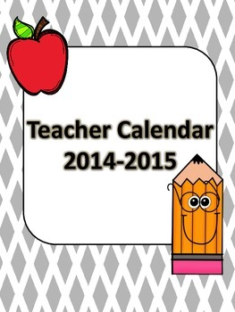 2014-2015 Vertical School Year Calendar