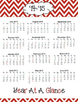2014-2015 Year at a Glance