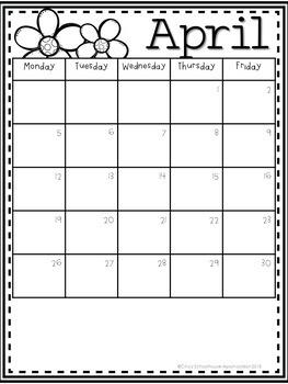 2017-2018 Yearly Behavior Calendars  *UPDATED*