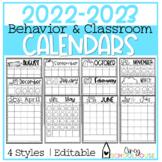 2020-2021 Yearly Behavior Calendars | Editable | Annual Up