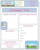 2014 April Classroom Newsletter Template