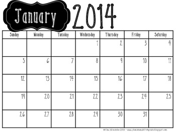 2014 Calendar-B&W Landscape
