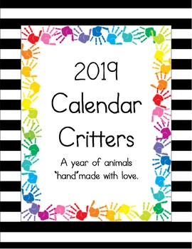 "2014 Calendar Critters.  A Year of Animals ""Hand""made with Love."