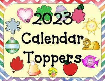 2018 Calendar Toppers FREEBIE