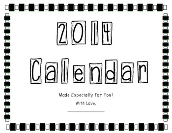 2014 Design the Month Calendar Pages