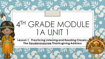 2014 ELA Module 1A Unit 1 Fourth Grade Engage NY 4th Common Core