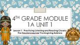 2014 ELA Module 1A Unit 1 Fourth Grade Engage NY 4th Common Core
