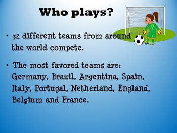 2014 FIFA World Cup Soccer PowerPoint