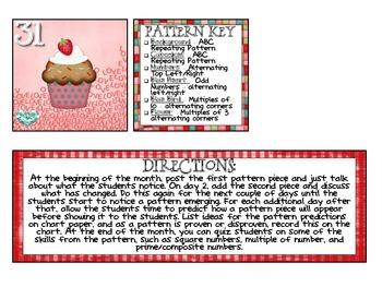 2014 February Calendar Pattern - Valentine's Day