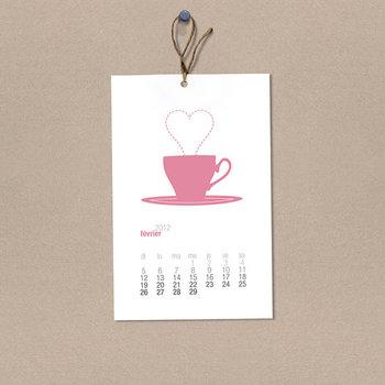 2014 French Calendar - Seasonal Printable Calendar - 2014 Calendrier Français