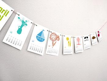 2014 French Calendar - Seasonal Printable Calendar - 2014