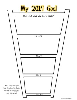 2014 Goal Ladder Graphic Organizer