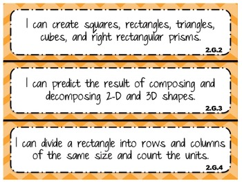 """2014 Indiana Standards  """"I can"""" statements for 2nd Grade Math"""