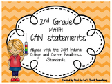"2014 Indiana Standards  ""I can"" statements for 2nd Grade Math"