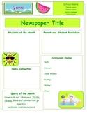 2014 June Classroom Newsletter Template