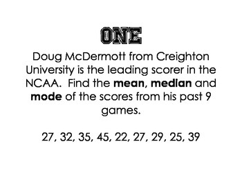 2014 March Madness Basketball Stats Stations