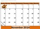 2014 Monthly Calendars and Calendar Activities