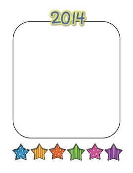 """2014 """"My Goals"""" Writing and Drawing Sheets!  Happy New Year!"""