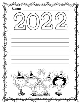 2018 New Year Themed Writing Paper
