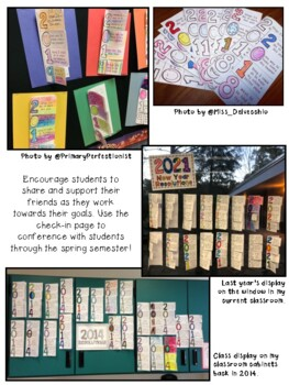 2019 New Year Resolutions Foldable, Bookmarks, and Reflection Page