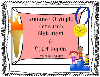 Rio 2016 Summer Olympic WebQuest and Sport Report Lower Elementary