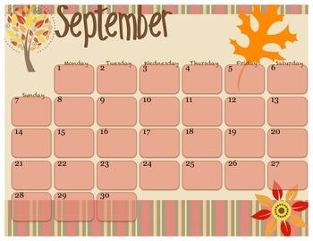 2014 September calendar