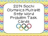 2014 Sochi Olympics Multiple Step Word Problem Task Cards