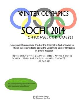 2014 Sochi Winter Olympics Chromebook Quest